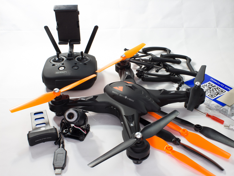 what is in the box of Vivitar 360 Drone