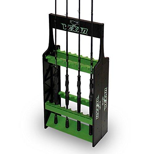 Vexan Super 16 Fishing Pole Shelf - Perfect for Bass, Walleye, Crappie, Musky, Northern Pike, Inshore, Catfish & Perch Fishing Rod Reel Holder