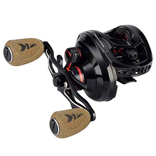 KastKing MegaJaws Baitcasting Reel,7.2:1 Equipment Proportion, Right Handed Angling Reel, Blacktip.