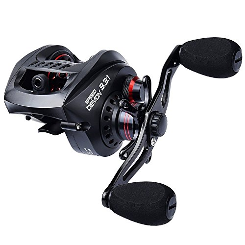 KastKing Speed Demon 9.3:1 Baitcasting Fishing Reel, Left Handed Reel.
